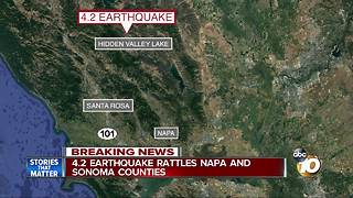 4.2 Earthquake in Northern California - Video