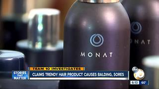San Diego woman files suit against trendy hair care line, claims severe hair loss - Video