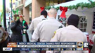 Mercy Medical Center thanks first responders - Video