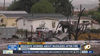 Lilac Fire-area residents concerned about mudslides - Video