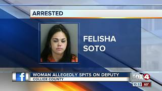 Woman on Xanax spits on Collier County deputy - Video