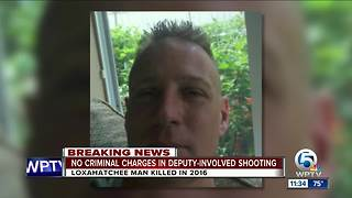 No criminal charges in deputy-involved shooting
