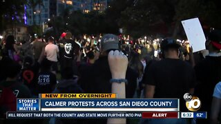 Calmer protests take place around county