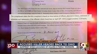West Chester murder suspect heading back to Ohio