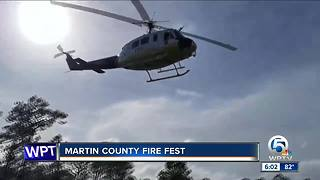 Fire demonstration held at Martin County Fire Fest - Video
