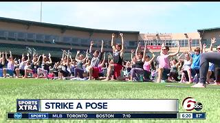Victory Field hosts Yoga in the Outfield - Video