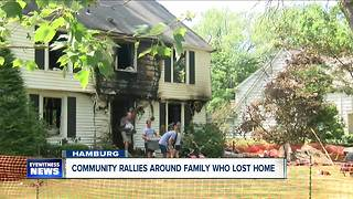 Community Rallies  Around Family Who Lost Home in Fire - Video