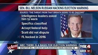 Senator Nelson warns Florida about potential hack