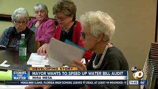 Mayor wants to expand water bill audit - Video
