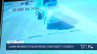 Lawn mower stolen from church