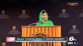 Malala Yousafzai speaks at DePauw University - Video