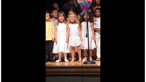 Talented Four-Year-Old Girl Gives Epic Performance At School Ceremony
