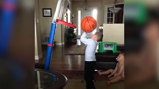 Basketball Shot Backfires, EPIC Fail
