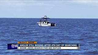 Angler still missing after 4th day of searching - Video