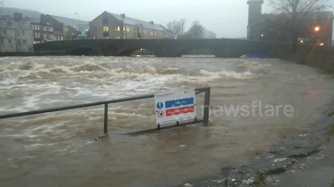 Heavy rain wreaks havoc in Cumbria's Kendal