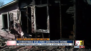 Williamstown home destroyed in Christmas Eve fire