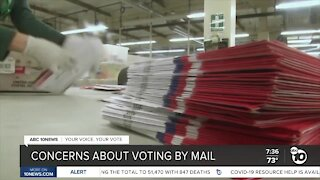 Concerns about voting by mail