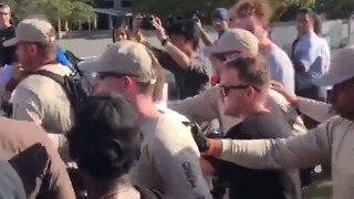 Police Escort Spencer Supporters from University of Florida Event - Video