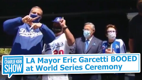 LA Mayor Eric Garcetti BOOED at World Series Ceremony