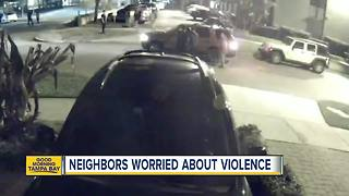 Home security video captures early morning shooting in Tampa's Hyde Park neighborhood - Video