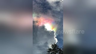 Fire Rainbow Illuminates The Sky In A Multi-Colored Ball Of Light
