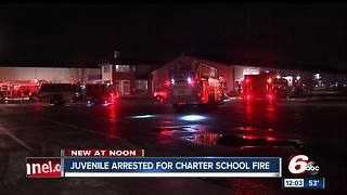 Juvenile arrested for charter school fire - Video