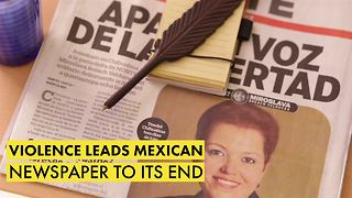 Violence leads Mexican newspaper to its end - Video