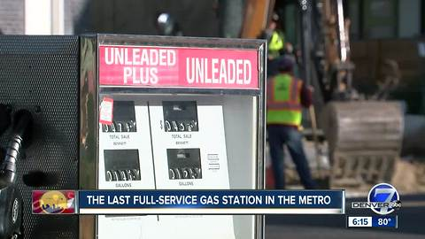 The last full-service gas station in the metro