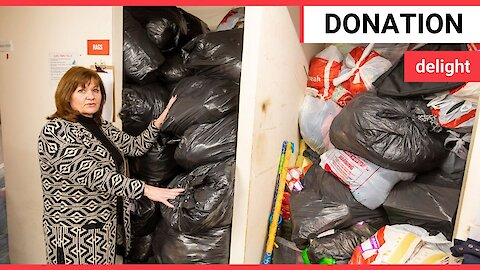 Generous family gift more than 400 bags of donations to charity