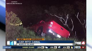 Truck gets stuck in Marco Island Canal