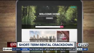 City of Las Vegas cracking down on illegal short-term rentals - Video