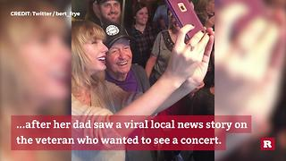 Taylor Swift Surprises Her Oldest Fan - Video