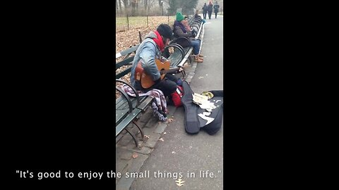Homeless man sings truly inspirational song