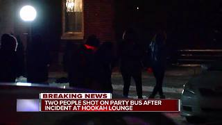 Suspects on loose after 2 injured following Highland Park party bus shooting - Video