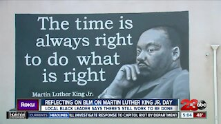 Reflecting on Black Lives Matter on Martin Luther King Jr. Day: local black leader says there's still work to be done