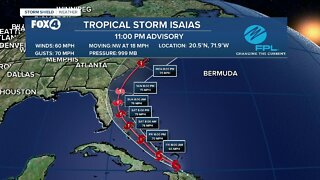 Tropical Storm Isaias 11 PM Update 7/30/20