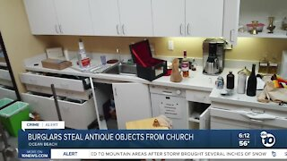 Burglar steals antique religious objects from OB church