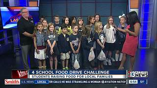 Serving Our Kids hosts 4 School Food Drive Challenge - Video