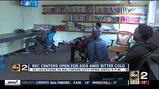 Mayor Pugh opens recreation centers while Baltimore Public Schools are closed - Video