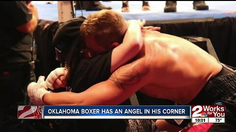Oklahoma boxer has an angel in his corner