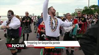 Preparing for Gasparilla parade - Video