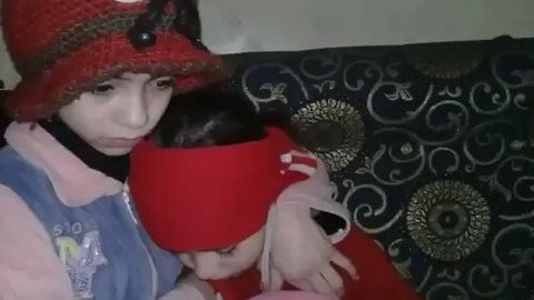 Sound of Planes Over East Ghouta Frightens Children