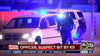 Mesa Police: Burglary suspect, officer bit by K-9 - Video
