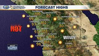 Record heat day in parts of San Diego County - Video