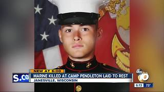 Marine Killed at Camp Pendleton laid to rest - Video