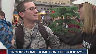 Troops come home for the holidays - Video