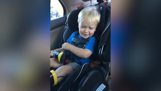 Tot Boy Freaks Out Over A Butterfly - Video
