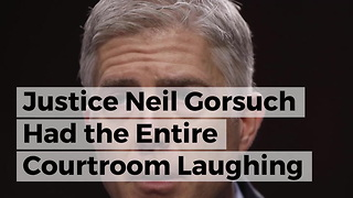 Justice Neil Gorsuch Had The Entire Courtroom Laughing - Video