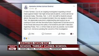 Kenosha school closed following social media threat - Video