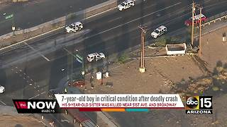 7-year-old boy remains in critical condition after deadly crash in Phoenix on Monday - Video